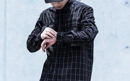 8折!ENSHADOWER隐蔽者黑色格子挂袋宽松男衬衣