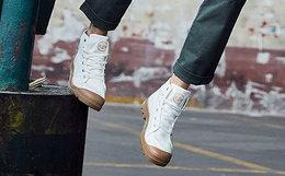 6.8折!PALLADIUM 帕拉丁包裹圆头系带男高帮帆布鞋