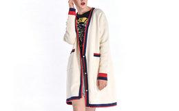 100劵!HARDY HARDY 拼色动物字母刺绣女开衫毛衣外套