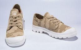 新品7.8折!法国PALLADIUM帕拉丁沙漠迷彩低帮帆布鞋