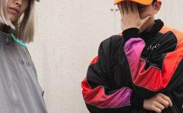 CLOTTEE 织带拼接撞色立领拉链男女同款夹克休闲外套