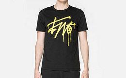 3折!BURANDOENO套头logo涂鸦印花男纯棉短袖T恤