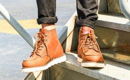4.4折!Dickies牛皮革男马丁靴高帮工装靴