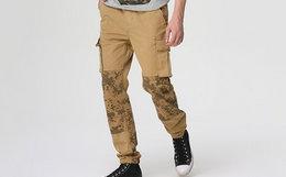 英国 Superdry 极度干燥多口袋迷彩拼接工装裤男休闲裤