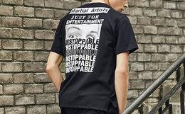 新品5.5折!THETHING图案局部印绣花短袖T恤