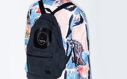 9.3折!Herschel x Basquiat 联名黑胶印花双肩包背包