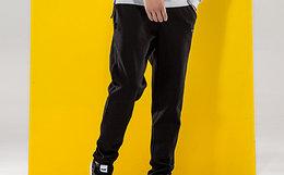 2.5折!PONY 直筒针织棉质腰部系带男运动裤小脚裤