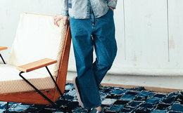 新品6.4折!蓝布屋赤耳丹宁宽松直筒日系九分牛仔裤