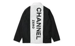 7.7折!SSUR PLUS恶搞系列字母拼色男女教练夹克外套