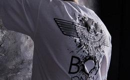 新品8.6折!BoyLondon喷墨老鹰logo圆领短袖情侣T恤