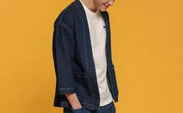 3.6折!塔卡沙动物系列七分袖贴布蓝色水洗牛仔外套