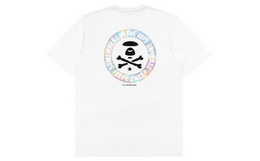 新品!Aape 镭射幻彩猿颜字母圆章印花男短袖T恤