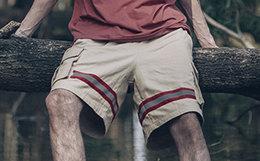 新品!易建联潮牌 US17立体口袋3M反光男工装裤短裤