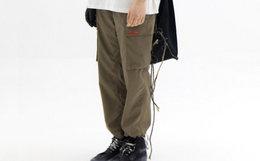 新品!LETROTTOIR标签多口袋束脚机能工装裤