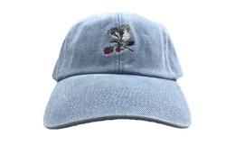 7.4折!STAPLE鸽子刺绣玫瑰鸽子男女棒球帽弯檐帽