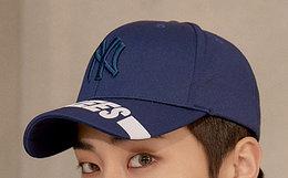 8.6折!韩国MLB纽约洋基队EXO帽檐字母弯檐棒球帽