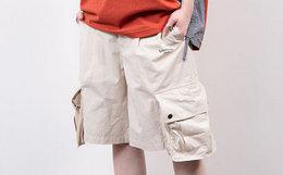 8折!LETROTTOIR潮流立体口袋薄款五分工装短裤