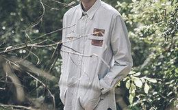 新品9折!易建联潮牌 US17创世记贴布口袋男衬衫
