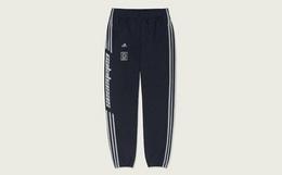 8折!adidas Yeezy直筒宽松束脚侧logo运动卫裤