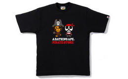海盗限定!日潮 bape MILO海盗船长T恤 黑白两色