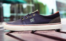 7折!美国DCSHOECOUSA皮革拼接复古休闲低帮滑板鞋
