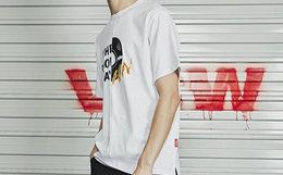 新品!VISION STREET WEAR拼接字母印花男短袖T恤