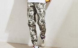 8.8折!美国Publish floral sprinter水墨花卉弹力束脚卫裤