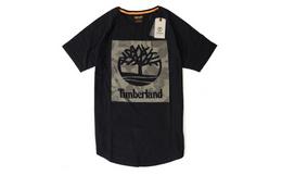 8.3折!美潮Timberland树形logo印花纯棉插肩短袖T恤