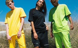 5折!FLOAT 洗水唛织带串标字母男女街头嘻哈短袖T恤