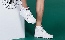新品用劵!PALLADIUM帕拉丁拼接胶头高帮男女帆布鞋