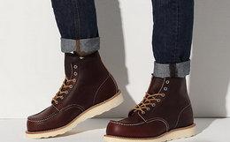 小幅优惠!美国Red Wing红翼复古系带方头牛皮男女工装靴