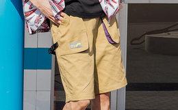 新品4折!Dusty卡扣撞色挂袋男简约工装短裤机能五分裤
