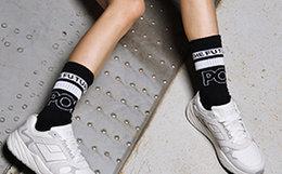 新品7.5折!PONY波尼透气拼色系带运动鞋男女老爹鞋