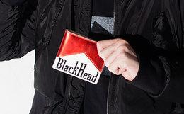 用劵优惠!black head创意万宝路MARLBORO爆珠牛皮钱包