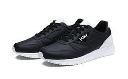 4.7折!PONY皮革拼接系带男女复古运动鞋慢跑鞋