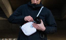 8.2折!Herschel 耳朵织带反光小标logo斜挎包男女腰包