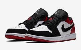 6.5折!Air Jordan 1 黑脚趾拼接撞色低帮男篮球运动鞋