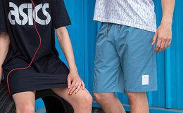 3.2折!ASICSTIGER 皮革小标logo男女运动梭织短裤