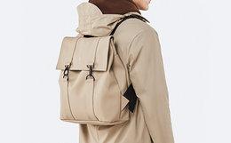 Rains Msn Bag 防雨防水织物双扣简约双肩包男女书包
