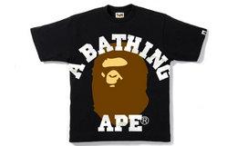 日潮BAPE夜光迷彩字母猿人头短袖T恤