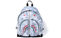 新品100元劵!BAPE SHARK星空迷彩鲨鱼男女双肩包背包