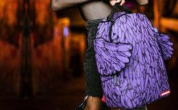 8.7折!美国SprayGround紫色翅膀潮流双肩背包