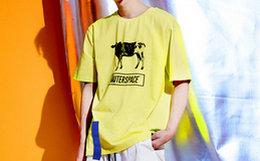 OUTERSPACE 太空设计51区牛被绑架印花男女短袖T恤