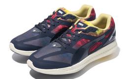 bape X PUMA联名拼接撞色系带超轻男运动鞋跑步鞋