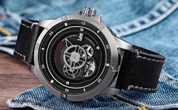 6.8折!美潮Lee镂空层次表盘钛金属全自动机械手表