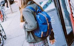 用券优惠!Herschel皮带拼接防水立体袋男女双肩背包 超多色