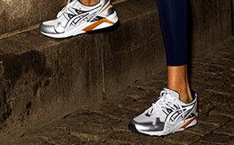 新品9.5折!ASICS x NAKED联名复古系带拼接撞色女运动跑鞋