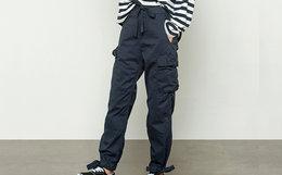 3.8折!DUSTYMINI多口袋蝴蝶结工装束脚裤