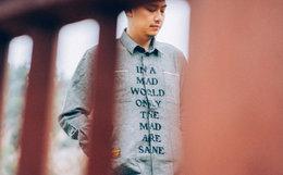国潮 DABOMB MAD主题印花宽松美式街头男高级灰衬衫