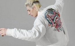 5.7折!wookong悟空小白龙刺绣棒球服男女棉夹克
